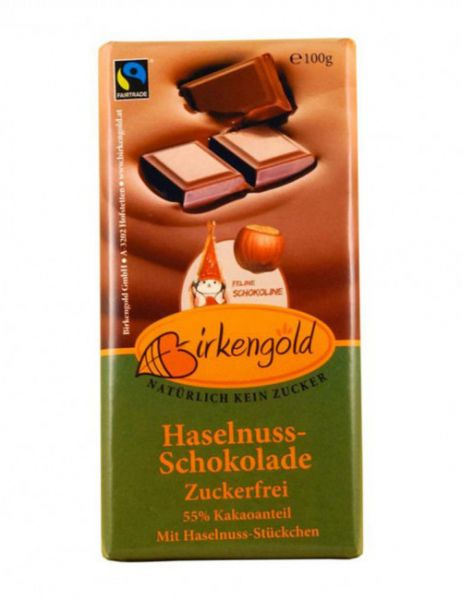 Birkengold HASELNUSSCHOKOLADE XYLIT