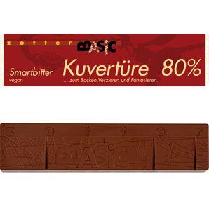 Zotter BASIC KUVERTÜRE SMARTBITTER 80%