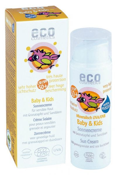 Eco Cosmetics BABY & KINDER SONNENCREME LSF50 NEUTRAL